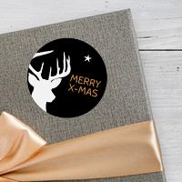 Hello Deer - Anhänger und Klebe-Etiketten mit Hirsch-Silhouette