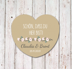 2 Designs in mint-gold und braun