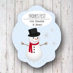 Winteretiketten Frosty in 2 Designs