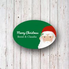 Aufkleber und Anhänger Santa