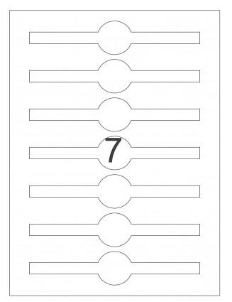 3 Bogen A4 Etiketten Verschlussetiketten, Frischesiegel 170 x 35 mm