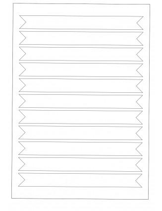 3 Bogen A4 Etiketten Verschlussetiketten, Frischesiegel 190 x 20 mm
