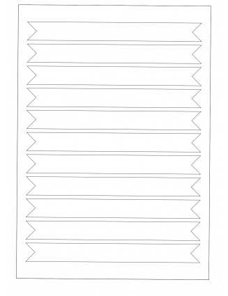 25 Bogen A4 Etiketten Verschlussetiketten, Frischesiegel 190 x 20 mm