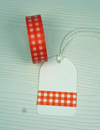 Masking Tape, Washi Tape orange karo, kariert 15 mm x 10 m
