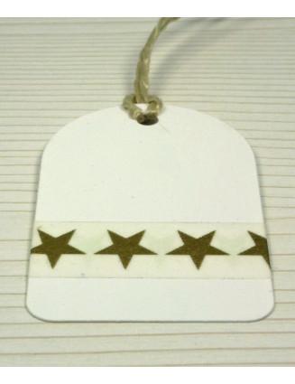 Masking Tape, Washi Tape Sterne Gold 15 mm x 10 m