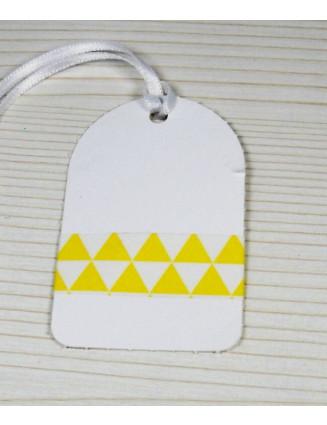 Masking Tape, Washi Tape Dreiecke Gelb 15 mm x 10 m