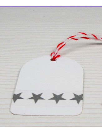 Masking Tape, Washi Tape Sterne Grau 15 mm x 10 m
