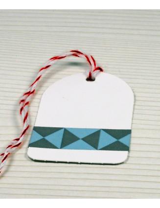 Masking Tape, Washi Tape Dreiecke Blau-Grau 15 mm x 10 m