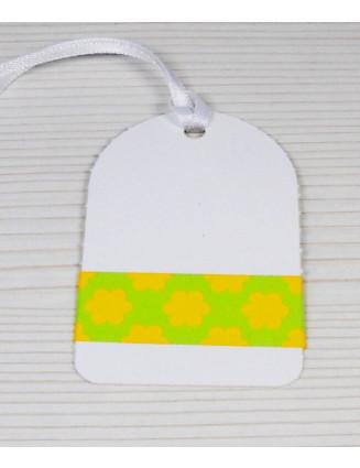 Masking Tape, Washi Tape Blumen Orange-Grün 15 mm x 10 m