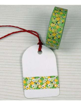 Masking Tape, Washi Tape Blumen 15 mm x 10 m