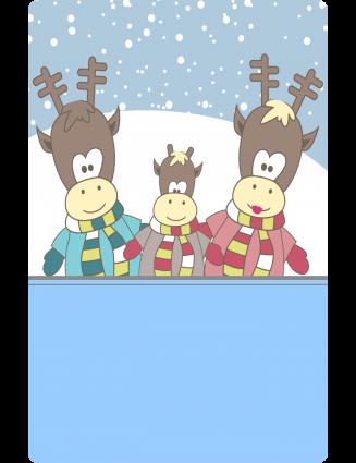 Aufkleber Weihnachten Rentier 55 x 85 mm watsonLABEL.net beschriftbar