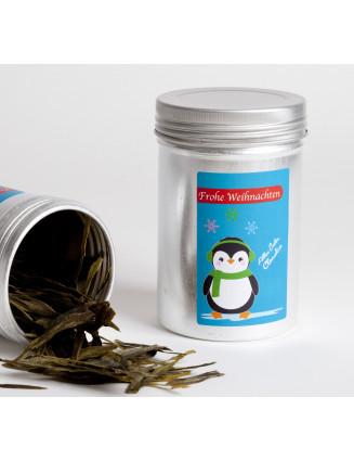 9 Etiketten Weihnachten Happy Pinguins 55 x 85 mm türkis