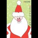 Aufkleber Weihnachtsmann grün 55 x 85 mm