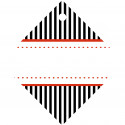 15 Geschenkanhänger Candy Stripes schwarz 50 x 50