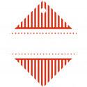 15 Geschenkanhänger Candy Stripes rot 50 x 50