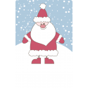 Aufkleber Weihnachtsmann blau  55 x 85 mm
