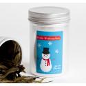 9 Etiketten Weihnachten Frosty 55 x 85 mm türkis