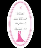 Klebe-Etiketten oval Forever Love 45 x 80 mm rosa