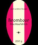 Aufkleber für Gläser oval Brombeer