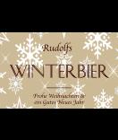 Klebe-Etiketten Snowflakes 85 x 55 mm braun