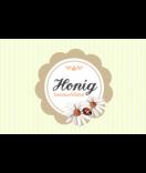 Honig Etiketten Vintage Stripes 85 x 55 mm braun