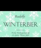Klebe-Etiketten Snowflakes 85 x 55 mm mint