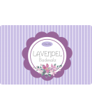 Klebe Etiketten Vintage Stripes 85 x 55 mm lavendel