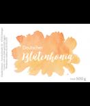 Klebe-Etiketten Watercolor Splash 85 x 55 mm gelb