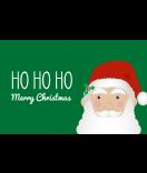 Klebe-Etiketten Santa 85 x 55 mm grün