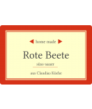 Klebe-Etiketten Home Made 85 x 55 mm rot