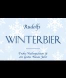 Klebe-Etiketten Snowflakes 85 x 55 mm blau