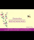 Klebe-Etiketten Classic Bee 85 x 55 mm fuchsia