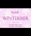 Klebe-Etiketten Snowflakes 85 x 55 mm rosa