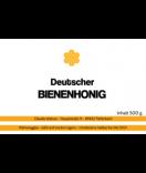 Honig Etiketten Honeycomb 85 x 55 mm weiß