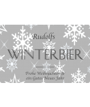Klebe-Etiketten Snowflakes 85 x 55 mm grau