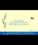 Klebe-Etiketten Classic Bee 85 x 55 mm blau