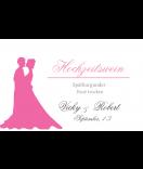Klebe-Etiketten Forever Love 85 x 55 mm rosa
