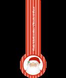 Verschluss Siegel Etiketten Santa 27 x 80 mm