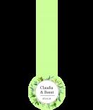 Greenery Frische Siegel Etiketten 27 x 80 mm