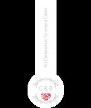 Verschluss-Etiketten, Siegeletiketten Filligree grau 27 x 80 mm