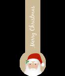 Verschluss-Etiketten Santa 27 x 80 mm braun