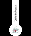 Verschluss-Etiketten Rustic Christmas 27 x 80 mm weiss