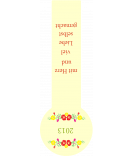 Frische-Siegel Etiketten Riga 27 x 80 mm gelb