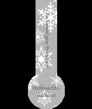 Verschluss-Etiketten Snowflakes 27 x 80 mm grau
