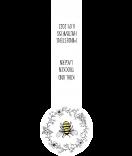 Verschluss Siegel Etiketten White Floral 27 x 80 mm