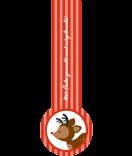 Verschluss Siegel Etiketten 27 x 80 mm Rudolf rot