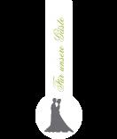 Frische-Siegel Etiketten Forever Love 27 x 80 mm grau