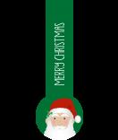 Verschluss-Etiketten Santa 27 x 80 mm grün