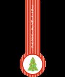 Frische-Siegel Etiketten Tannenbaum 27 x 80 mm rot