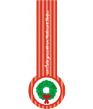Verschluss Siegel Etiketten Kranz 27 x 80 mm rot